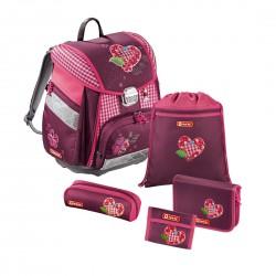 HAMA tornister plecak Tweedy Hearts zestaw