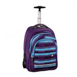 HAMA ALL OUT plecak na kółkach BOLTON summer check purple