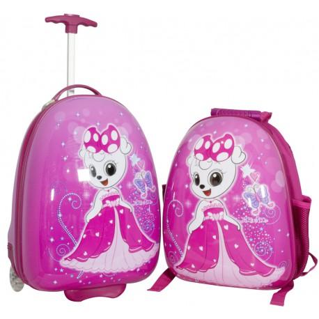 e429e94369a45 Zestaw podróżny dla dzieci KSIĘŻNICZKA walizka i plecak - Sklep ...