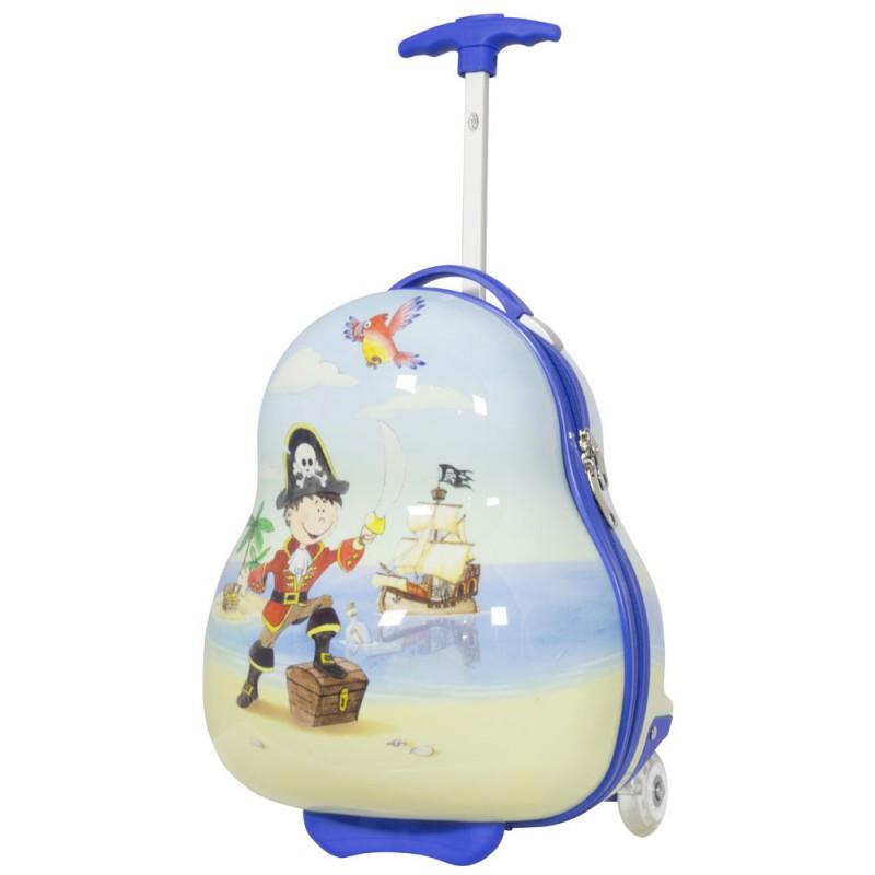 fe1921f5224f6 Walizka podróżna mała dla dzieci PIRAT na kółkach
