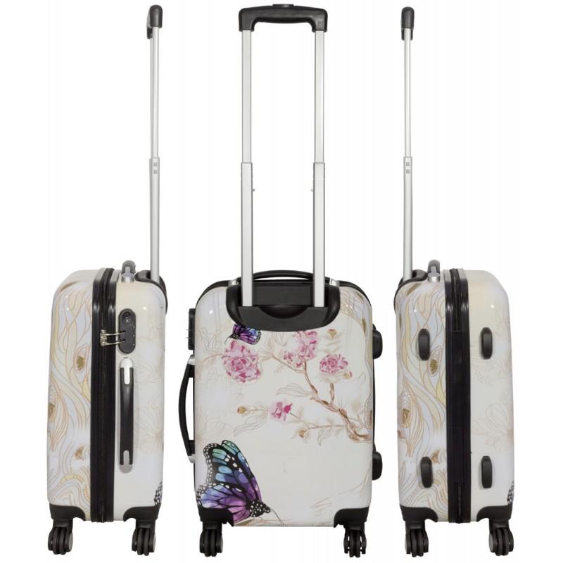 a309e5b621398 Walizka duża MOTYL poliwęglan 4 koła - Sklep Travelbag4U